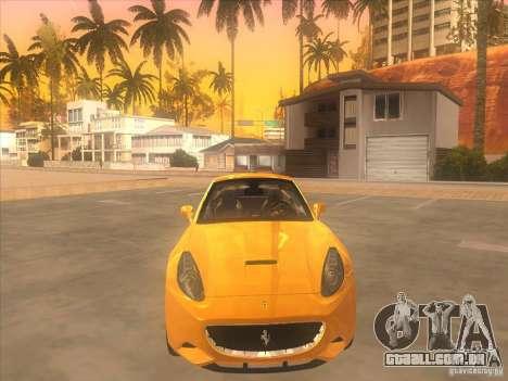 Ferrari California para GTA San Andreas vista interior