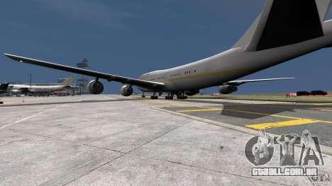 Real Emirates Airplane Skins Gold para GTA 4 esquerda vista