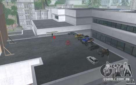 Cars shop in San-Fierro beta para GTA San Andreas por diante tela