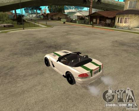 Dodge Viper SRT-10 para GTA San Andreas traseira esquerda vista