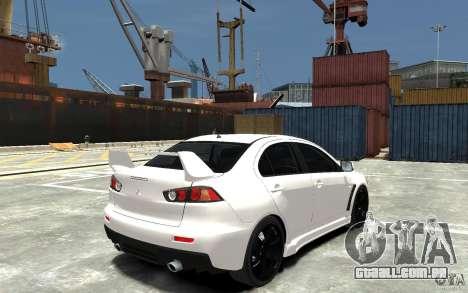 Mitsubishi Lancer Evo X v.1.0 para GTA 4 vista direita