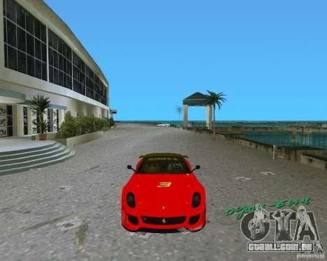 Ferrari 599 GTO para GTA Vice City deixou vista