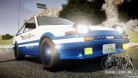 Toyota Trueno AE86 Initial D para GTA 4 vista lateral