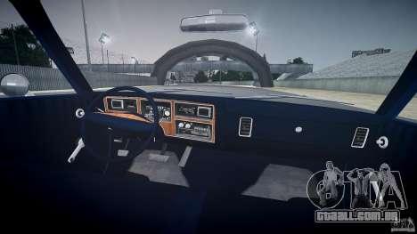 Dodge Aspen v1.1 1979 para GTA 4 vista superior