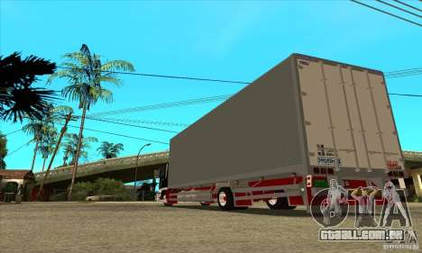 Hino Ranger para GTA San Andreas traseira esquerda vista