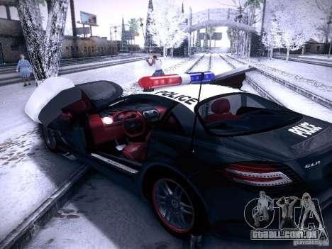 Mercedes-Benz SRL 722 Police para GTA San Andreas vista traseira