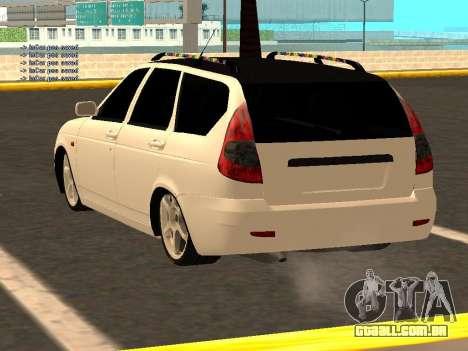 Lada Priora Hatchback para GTA San Andreas traseira esquerda vista