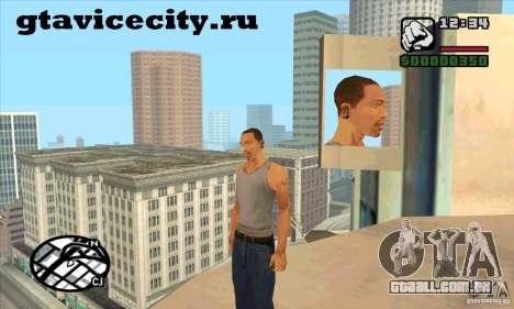 Piercing CJ mod + branco para GTA San Andreas segunda tela