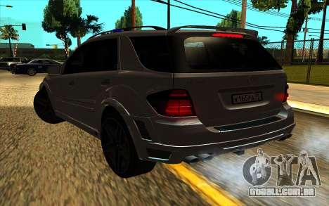Mercedes-Benz ML63 AMG W165 Brabus para vista lateral GTA San Andreas