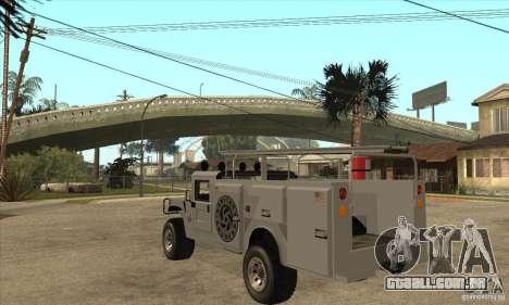 Hummer H1 Utility Truck para GTA San Andreas traseira esquerda vista