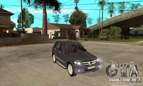 Mercedes Benz GLK300 para GTA San Andreas vista traseira