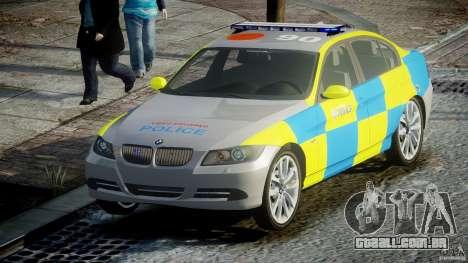 BMW 350i Indonesian Police Car [ELS] para GTA 4 vista de volta