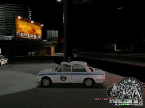 Polícia de 2101 VAZ para GTA Vice City deixou vista