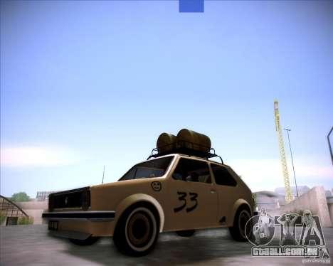 Volkswagen Golf MK1 rat style para GTA San Andreas traseira esquerda vista