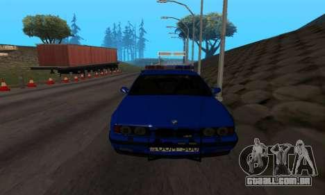 BMW M5 POLICE para GTA San Andreas vista traseira