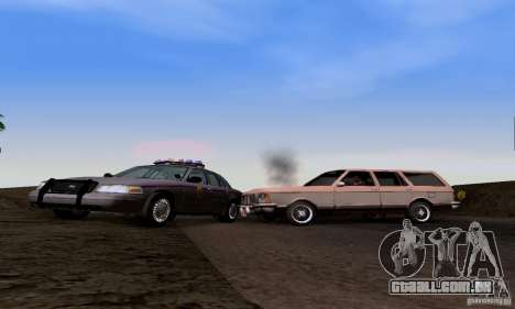 Ford Crown Victoria Mississippi Police para GTA San Andreas vista traseira