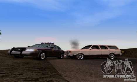 Ford Crown Victoria Mississippi Police para GTA San Andreas vista traseira