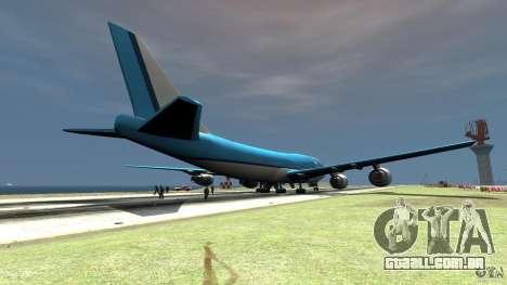 Real KLM Airplane Skin para GTA 4 traseira esquerda vista