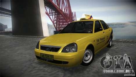 LADA Priora 2170 táxi TMK Afterburner para GTA San Andreas
