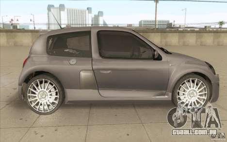 Renault Clio V6 para GTA San Andreas vista interior