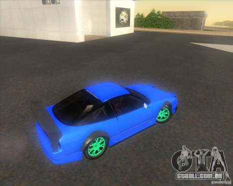Nissan 240SX for drift para GTA San Andreas vista interior