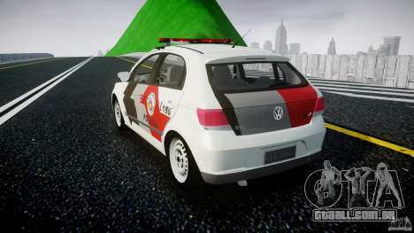 Volkswagen Gol G5 PMSP [ELS] para GTA 4 traseira esquerda vista