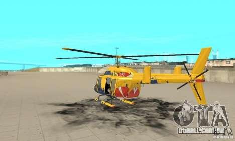 O helicóptero de turismo de gta 4 para GTA San Andreas traseira esquerda vista