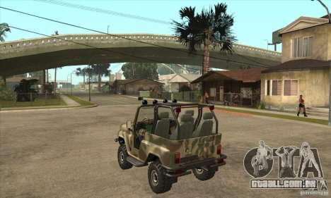 Verme UAZ-3150 para GTA San Andreas traseira esquerda vista