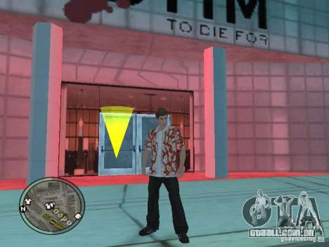 Tony Montana para GTA San Andreas por diante tela