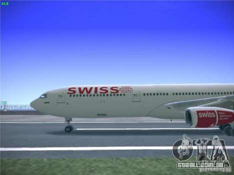 Airbus A340-300 Swiss International Airlines para GTA San Andreas esquerda vista