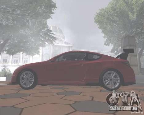 Hyundai Genesis Coupe para GTA San Andreas vista traseira