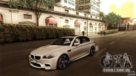 BMW M5 F10 2012 para GTA San Andreas vista interior