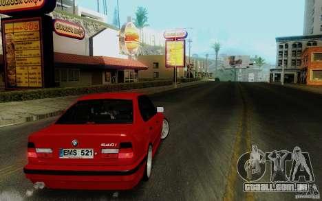 BMW E34 540i Tunable para GTA San Andreas vista direita