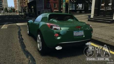 Pontiac Solstice 2009 para GTA 4 traseira esquerda vista