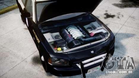 Dodge Charger Florida Highway Patrol [ELS] para GTA 4 vista de volta