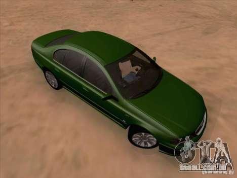 Ford Falcon Fairmont Ghia para GTA San Andreas esquerda vista