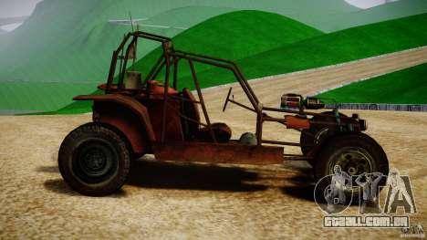 Half Life 2 buggy para GTA 4 esquerda vista