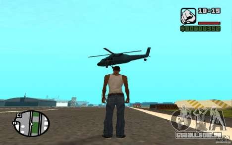 Apoio aéreo quando atacando. para GTA San Andreas quinto tela