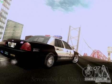 Ford Crown Victoria Los Angeles Police para GTA San Andreas vista direita
