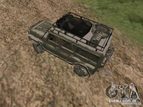 UAZ-31519 do COD MW2 para GTA San Andreas vista direita