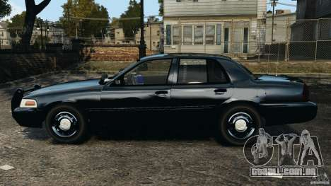 Ford Crown Victoria Police Unit [ELS] para GTA 4 esquerda vista
