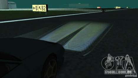 Faróis de halogéneo para GTA San Andreas por diante tela