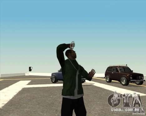 Animação diferente para GTA San Andreas oitavo tela