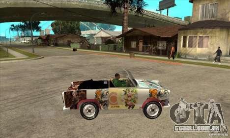 Trabant 601 Custom para GTA San Andreas vista traseira