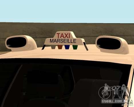 Peugeot 406 Taxi 2 para GTA San Andreas vista traseira