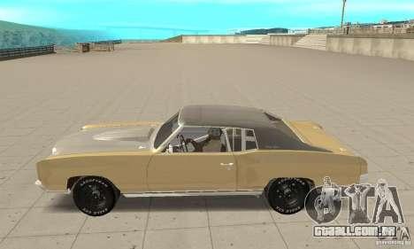 Chevy Monte Carlo [F&F3] para GTA San Andreas esquerda vista