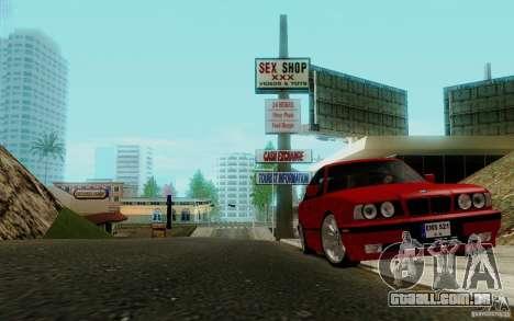 BMW E34 540i Tunable para GTA San Andreas vista traseira