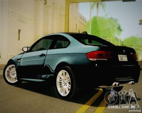 BMW M3 E92 v2.0 para GTA San Andreas esquerda vista