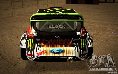 Ford Fiesta Gymkhana Four para GTA San Andreas vista traseira