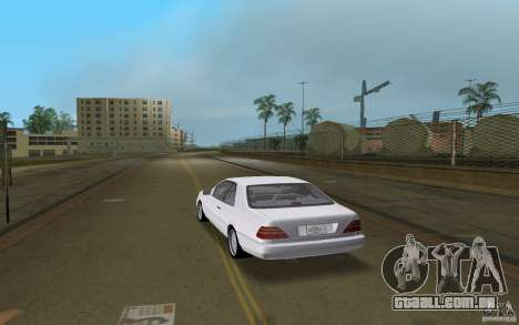 Mercedes-Benz 600SEC (C140) 1992 para GTA Vice City vista direita